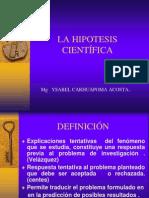 CLASE N° 06 LA HIPOTESIS CIENTIFICA