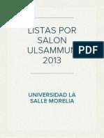 Salones ULSAMMUN