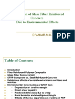 Degradation of Glass Fiber Reinforced Concrete Due to Environmental effects
