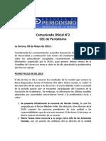 Comunicado Oficial N°2 CEC Periodismo ULS 09.05.2013