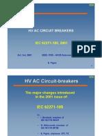 39 HV AC Circuit Breakers - IEC 62271-100