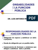 Responsabilidades en La Funcion Pub.
