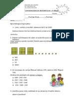 evaluacion de mate 3°