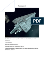 Acclamator II Star Wars RPG