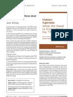 Hidden Agendas (9781927131909) - BWB Media Release