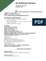 Curriculum Vitae Guido Pereyra