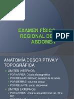 Examen físico regional del abdomen