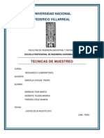 Tecnicas de Muestreo - Lab. Bioquimica (Unfv)