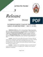 2013-05-03 Statewide Arson Awareness Week