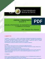 COSTOS Y PPTOS. S.15-B
