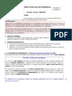 Guia de Aprendizaje Taller1 Tallas y Medidas CAMISA