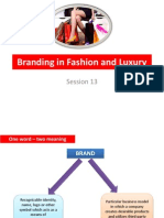 Branding in Fashion and Luxury