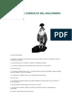 CÓDIGO DE CONDUCTA DEL HALCONERO