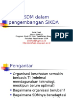 Aspek SDM dalam pengembangan SIKDA