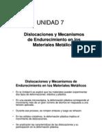 7 Dislocaciones y Mecanismos de Endurecimiento en Los Materiales Metalicos
