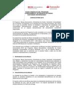 Bases Becas Iberoamérica Estudiantes de Pregrado 2013