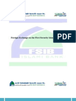 Foreign Exchange on First Security Islami Bank ltd