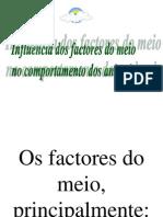 Influência dos factores do meio nos animais