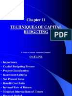 13671887 Chapter 11 Techniques of Capital Budgeting
