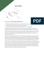 Hukum Gerakan Planet Kepler