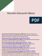 Decretos Educación Básica