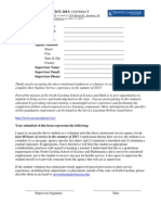 NCSSM Summer Service 2013 Contract