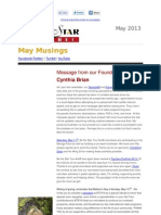 May Musings 2013 from Be the Star You Are!® and Cynthia Brian