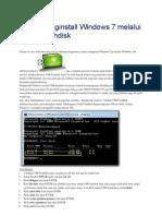 Cara Menginstall Windows 7 Melalui USB Flashdisk