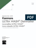 Kenmore - 665 1328 Dishwasher User Guide