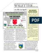 SICC May Newsletter