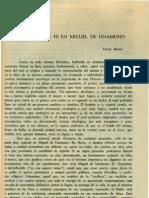 Brenes. Victor - El Concepto de Fe en Miguel de Unamuno
