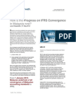 How is the Progress on IFRS Convergence