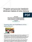 Program Penyusunan Database Eliminasi Malaria
