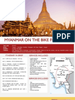 Myanmar on the bike for 10 days