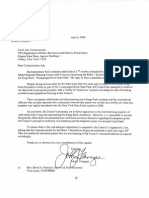 April 4, 2009 - Senator Flanagan Requests Comment Period Extension