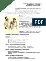 Información para seminario de Pastoral Juvenil y Acompañamiento