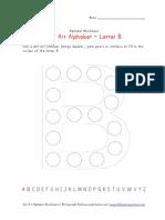 Dot Art Letter b