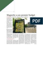 Le Soir - Magnette a Son Premier Budget - 10.05.13
