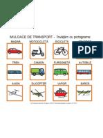 MIJLOACE DE TRANSPORT -  Învăţăm cu pictograme