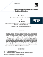 Asymmetric Effects of Prop Imperfections on the Upheaval Bucling of Pipelines