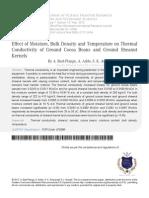 1 Effect of Moisture Bulk Density and Temperature