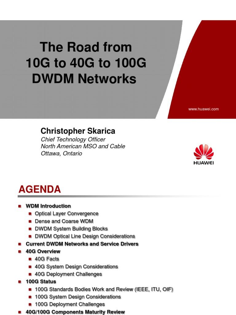 Huawei-10G to 40G to 100G DWDM Networks | Wavelength