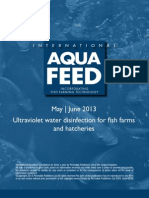 Ultraviolet water disinfection for fish farms and hatcheries