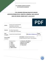 INCIDENCIA DE LESIONES PRE-MALIGNAS DE CÁNCER CERVICOUTERINO EN EL HOSPITAL GENERAL SAN JUAN DE DIOS DE ORURO, ENERO-2007 A JULIO-2012