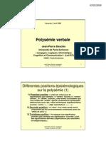 Presentation 2005 DES Polysemie Verbale