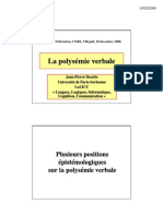 Presentation 2006 DES Polysemie