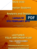Info Sys Analysis & Design_lecture Notes Level 300[1]