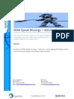 WAN Speak Musings - Volume II