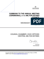 Milton Keynes Council Agenda