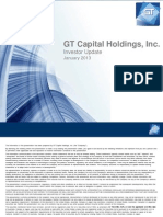 20130125 GT Capital Holdings Investor Update FINAL